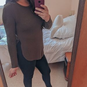 Forever 21 Olive Long Sleeve Top